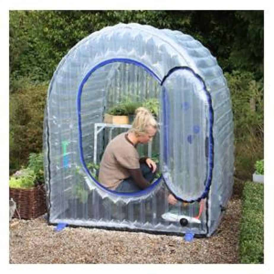 temporary inflatable greenhouse