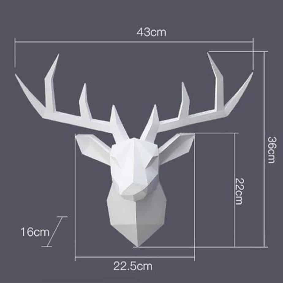geometric resin stag heads